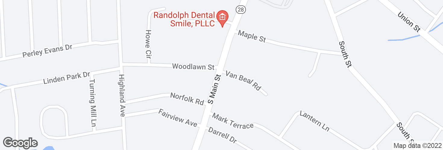 Map of S Main St @ Van Beal Rd and surrounding area