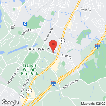 Map of Adam Glasgow, MD at 278 Union Street, East Walpole, MA 02032