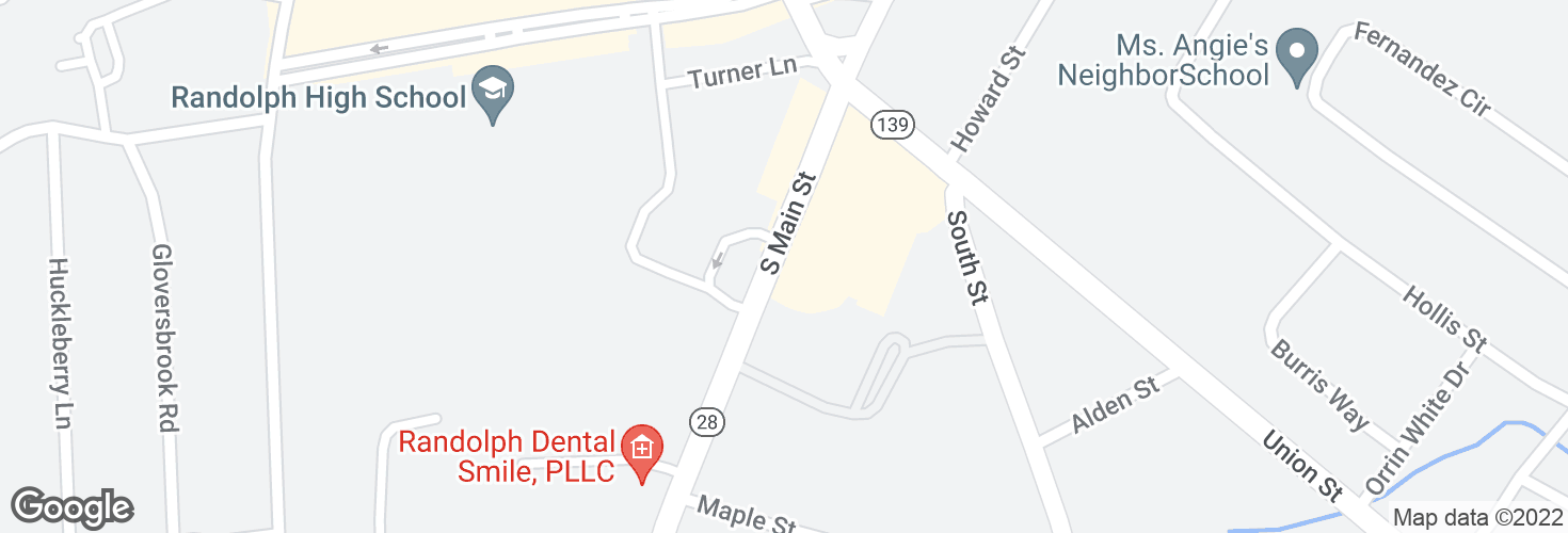 Map of 32 S Main St and surrounding area