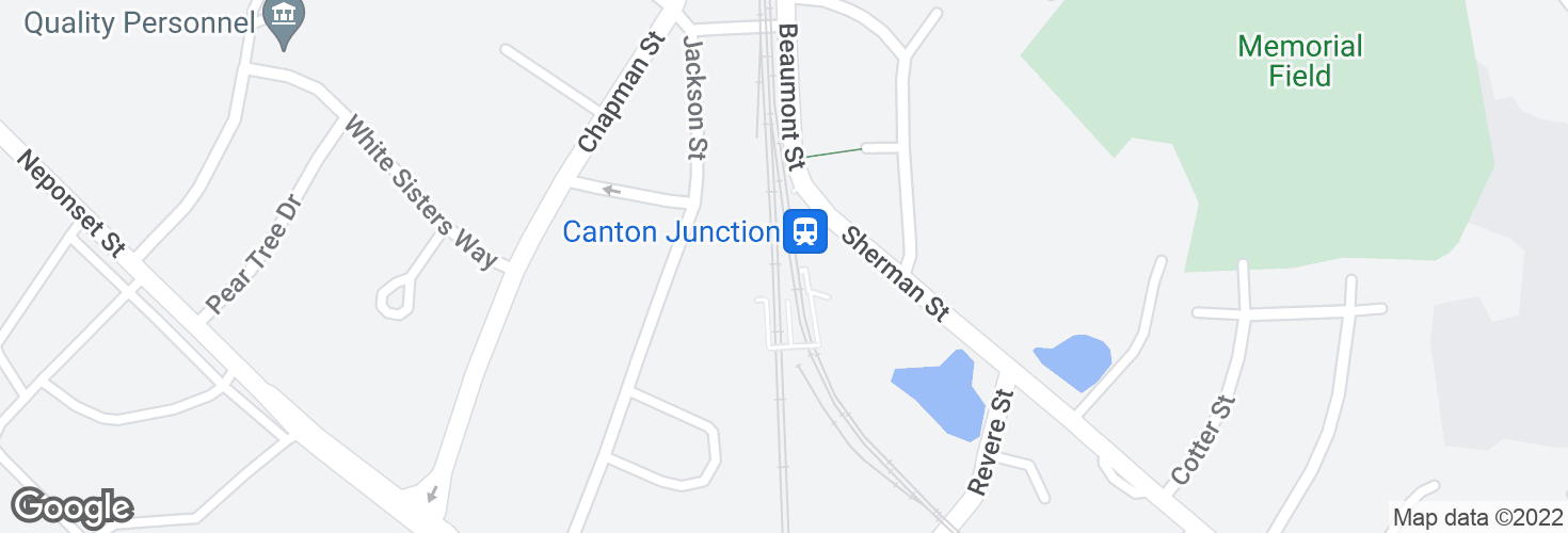 Map of Canton Junction and surrounding area