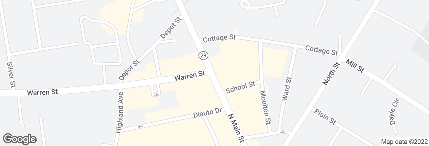 Map of N Main St opp Warren St and surrounding area