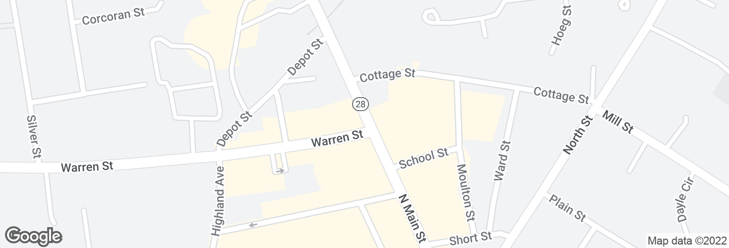 Map of N Main St @ Warren St and surrounding area