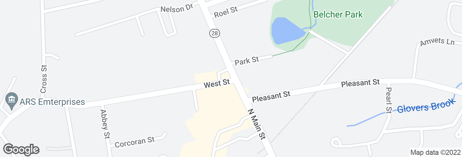 Map of N Main St @ West St and surrounding area