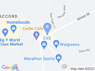 Map of A Fox and Hounds Pet Care Dog Boarding options in Norwell | Boarding