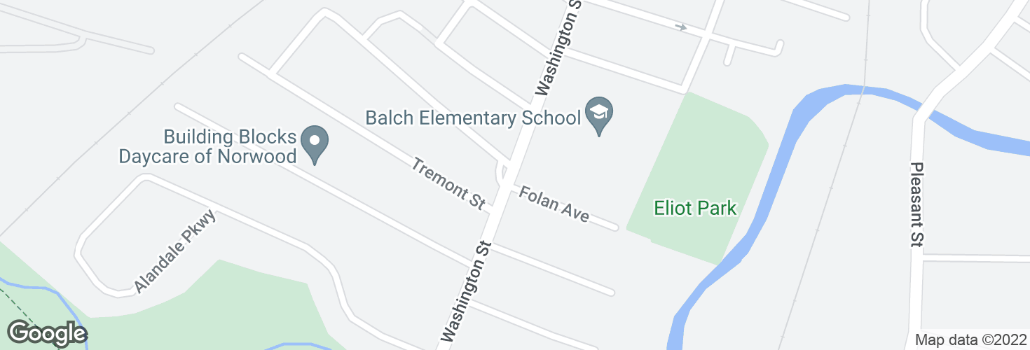 Map of 1182 Washington St @ Balch School and surrounding area