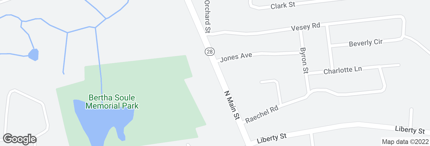 Map of 564 N Main St and surrounding area