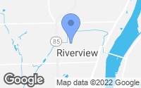 Map of Riverview, MI