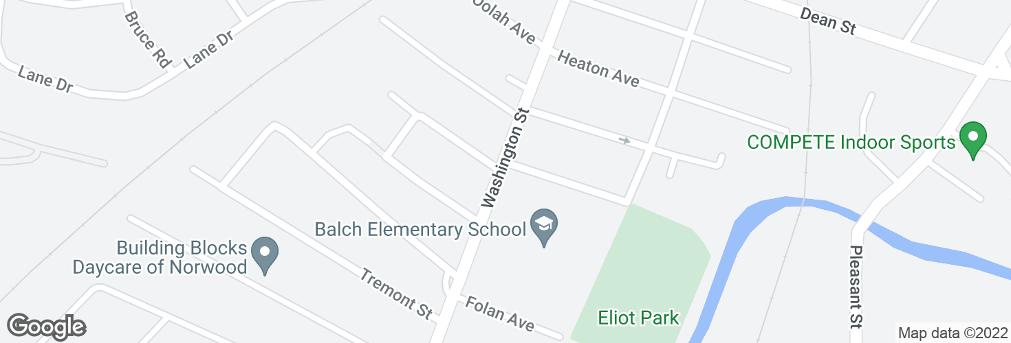 Map of Washington St @ Saint George Ave and surrounding area