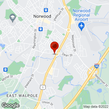 Map of Staples® Print & Marketing Services at 991 Providence Hwy, Norwood, MA 02062