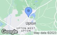 Map of Upton, MA