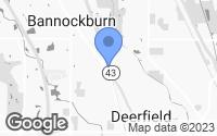 Map of Bannockburn, IL