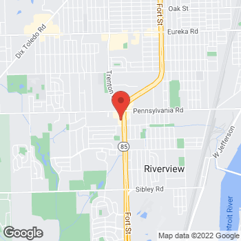 Map of Check `n Go at 17118 Fort Street, Riverview, MI 48193