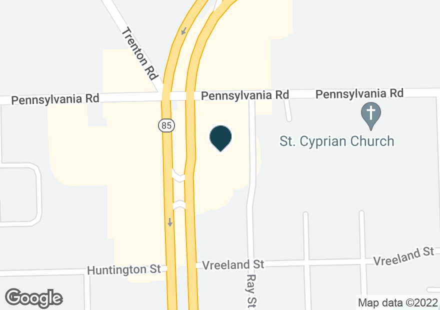 Google Map of17071 FORT ST