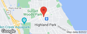 Map of 609 Laurel Ave in Highland Park