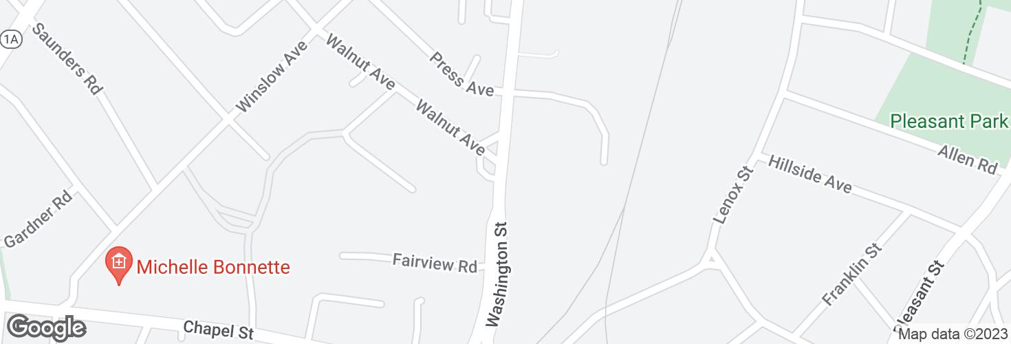 Map of 930 Washington St opp Walnut Ave and surrounding area