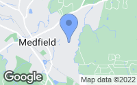Map of Medfield, MA