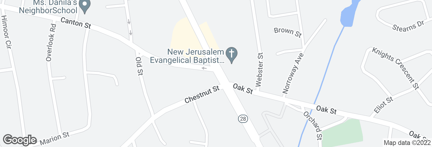 Map of N Main St @ Chestnut St and surrounding area