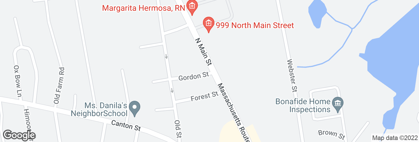 Map of N Main St @ Gordon St and surrounding area