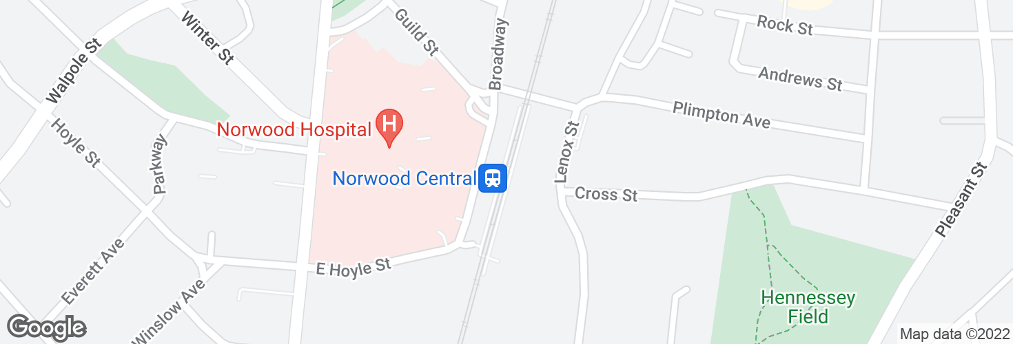 Map of Norwood Central and surrounding area