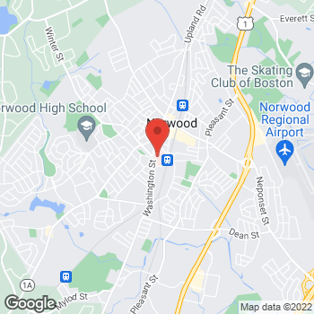 Map of Amen Ness, MD at 800 Washington Street, Norwood, MA 02062