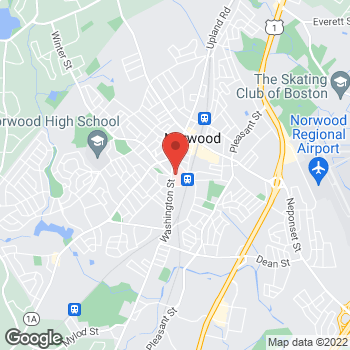 Map of Lucy Bayer-Zwirello, MD at 800 Washington Street, Norwood, MA 02062