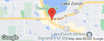 Map of 444 S Rand Rd in Lake Zurich