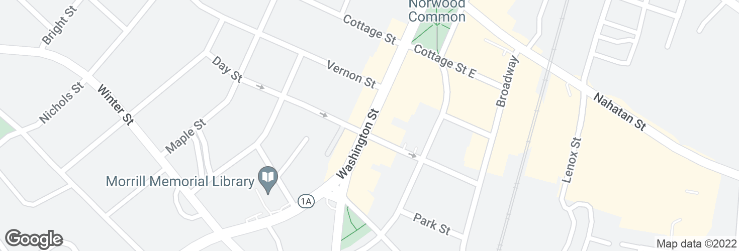 Map of Washington St @ Day St and surrounding area