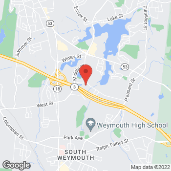 Map of Alexander Pleet, MD at 97 Libbey Industrial Parkwaysuite 100, East Weymouth, MA 02189