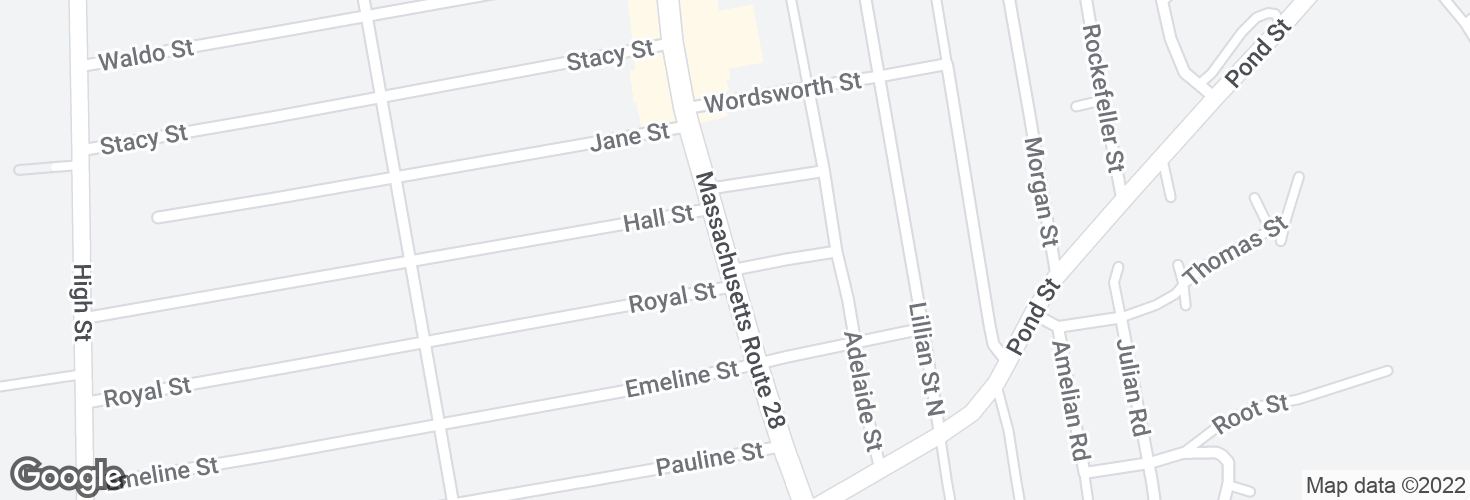 Map of N Main St @ Bennington St and surrounding area