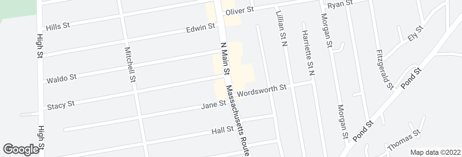 Map of N Main St opp Stacy St and surrounding area