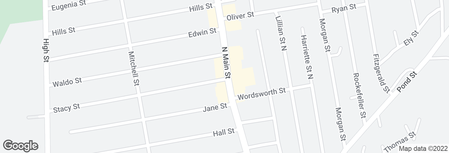 Map of N Main St @ Stacy St and surrounding area