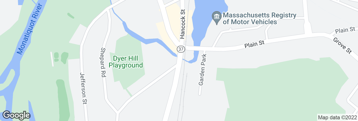 Map of Hancock St @ Washington St and surrounding area