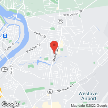 Map of Hair Cuttery at 1410 Memorial Drive, Chicopee, MA 01020