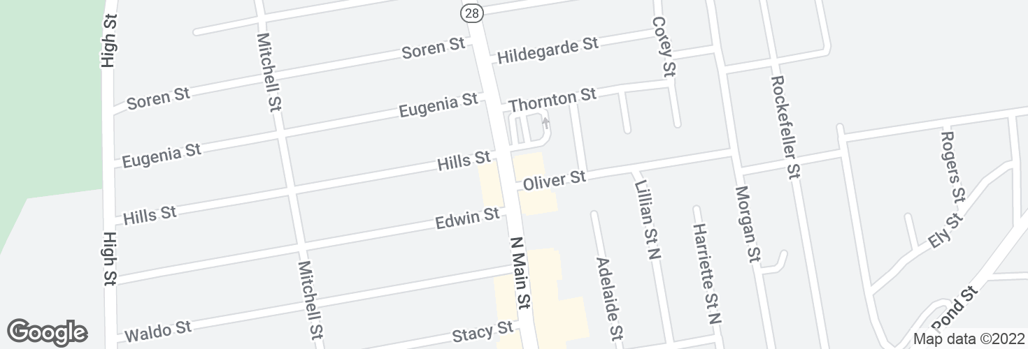 Map of N Main St @ Oliver St and surrounding area
