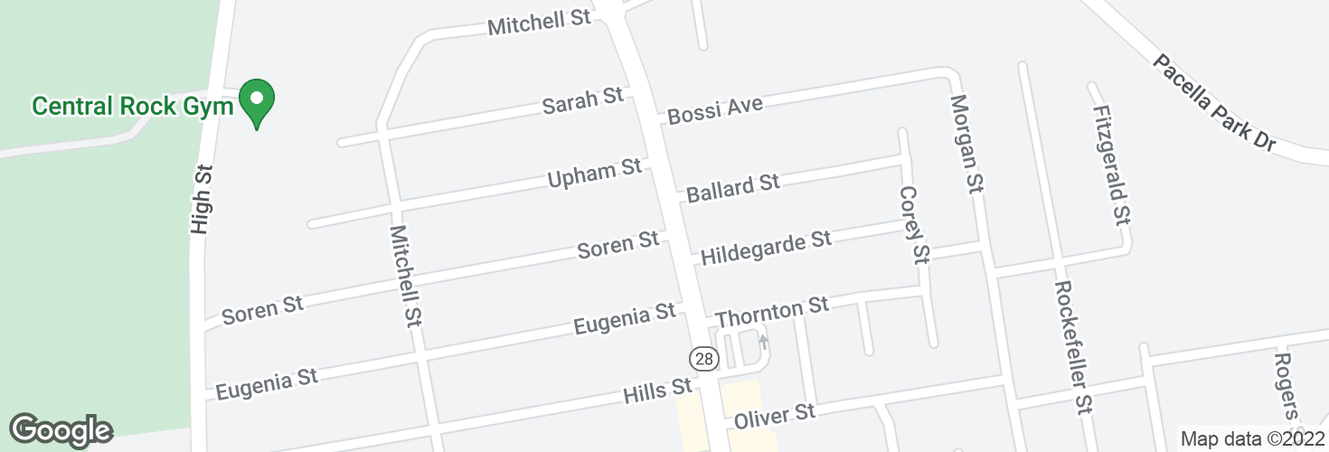 Map of N Main St @ Soren St and surrounding area