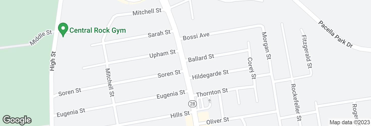 Map of N Main St @ Ballard St and surrounding area