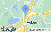 Map of Auburn, MA