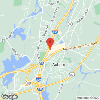 Map of Staples at 436 Southbridge Street, Auburn, MA 01501