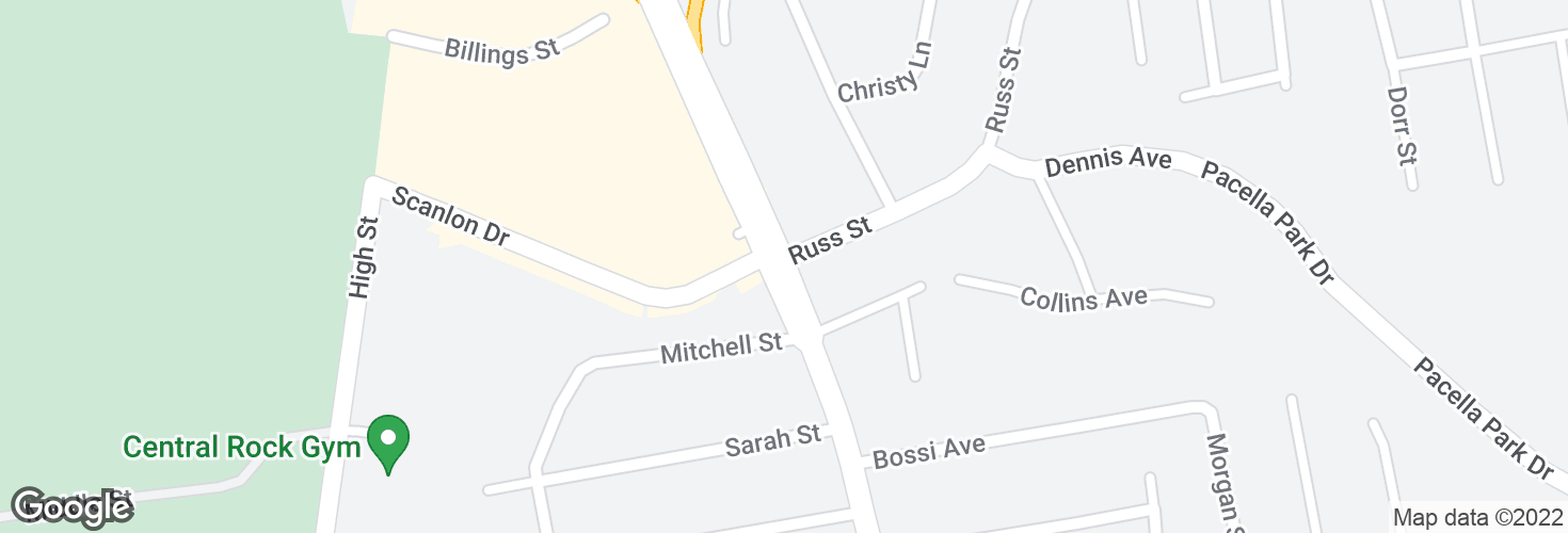 Map of N Main St @ Russ St and surrounding area