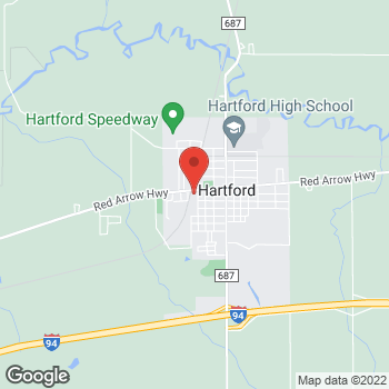 Map of Rite Aid at 302 West Main Street, Hartford, MI 49057