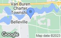 Map of Belleville, MI