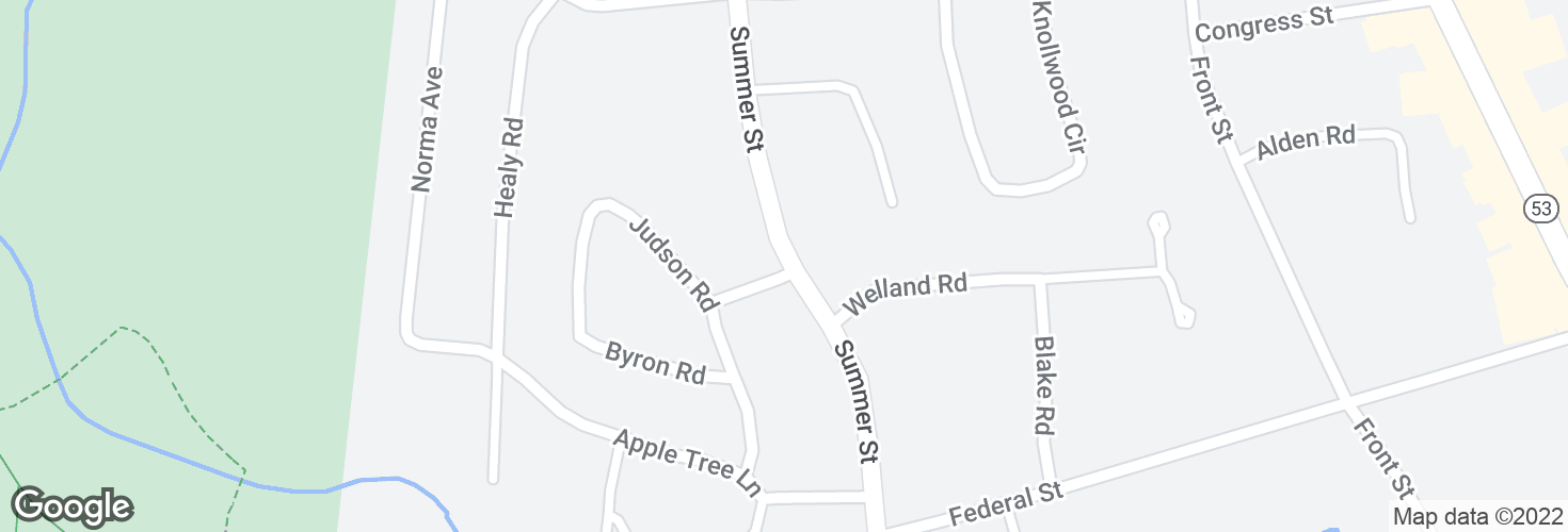 Map of Summer St @ Harland Rd and surrounding area