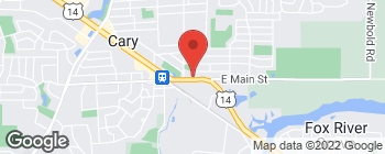 Map of 60 E Main St in Cary