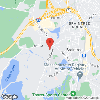 Map of Kathleen Muse, NP at 639 Granite Street, Braintree, MA 02184