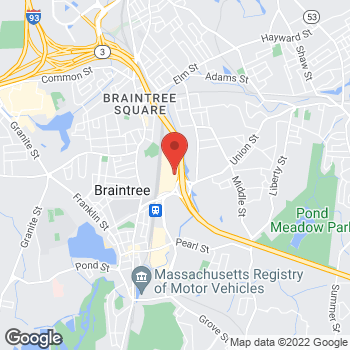 Map of Guitar Center at 255 Grossman Dr, Braintree, MA 02184