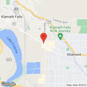 Map of Rite Aid at 2521 South Sixth Street, Klamath Falls, OR 97601