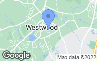 Map of Westwood, MA