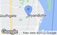 Map of Wyandotte, MI