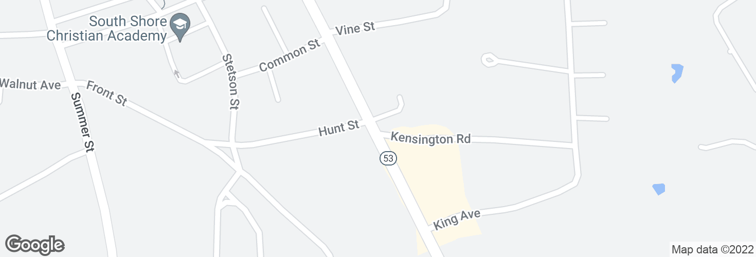 Map of Washington St @ Kensington Rd and surrounding area