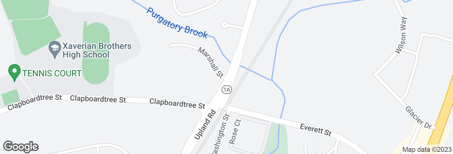 Map of Washington St @ Marshall St and surrounding area